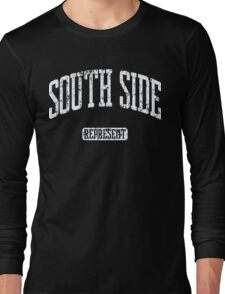 South Side Represent (White Print) Long Sleeve T-Shirt