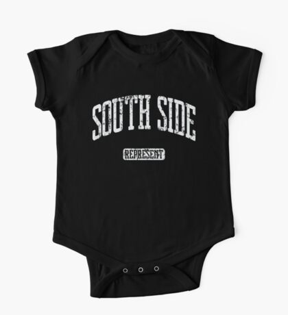 South Side Represent (White Print) One Piece - Short Sleeve