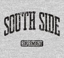 South Side Represent (Black Print) Kids Tee