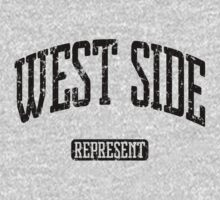 West Side Represent (Black Print) One Piece - Short Sleeve