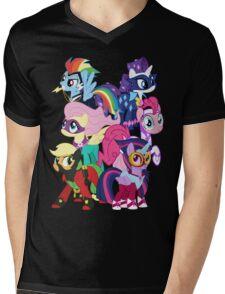 Power Ponies Reassemble Mens V-Neck T-Shirt