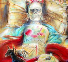 'Frida- Viva la Vida- by artist Heather Calderon by HCalderonArt