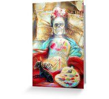 'Frida- Viva la Vida- by artist Heather Calderon Greeting Card