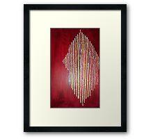 Red Tear Framed Print
