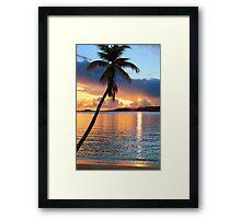 Tropical Sunset St. Thomas Framed Print