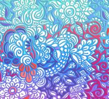 Fantasy Garden Rainbow Doodle Sticker