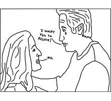 X-Files: Sad Mulder Photographic Print