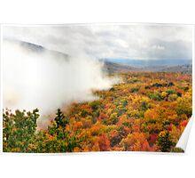 Autumn's Misty Veil Poster