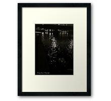 Vistula River at the Wawel Hill (Cracow). Poland. Framed Print