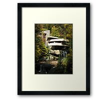 Falling Water Framed Print