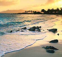 Golden Sunrise on Sapphire Beach by Roupen  Baker