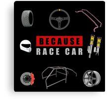Because Race Car Canvas Print