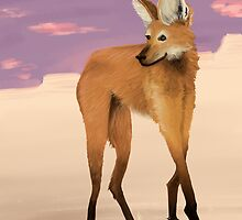 Maned Wolf by burritomadness