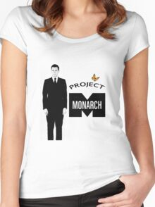 Project Monarch - Bluebird Project - Paper Clip - MK Ultra Women's Fitted Scoop T-Shirt
