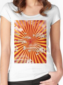Fish Migration (Fukushima) Women's Fitted Scoop T-Shirt