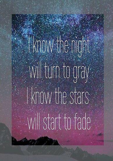I know the night will turn to grey  by elenastrawn25