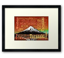 Mount Taranaki - Egmont Sunset - Full Colour Framed Print