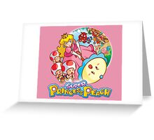 Super Princess Peach Greeting Card