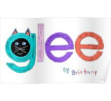 Glee logo by brittany Poster