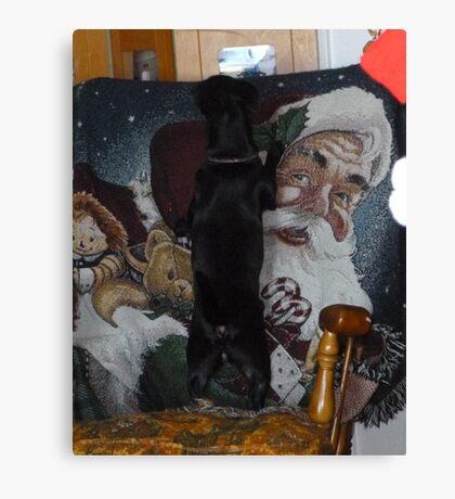 Looking For Santa Canvas Print