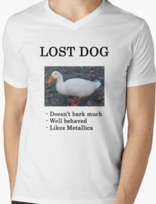 Lost Dog / Duck Mens V-Neck T-Shirt