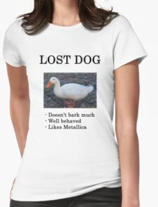 Lost Dog / Duck Womens Fitted T-Shirt