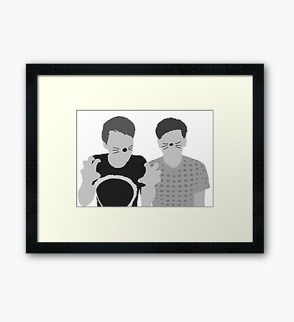 Dan & Phil | Poster in grey Framed Print