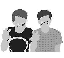 Dan & Phil | Poster in grey Photographic Print