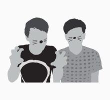Dan & Phil | Poster in grey Kids Tee