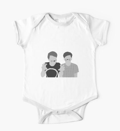 Dan & Phil | Poster in grey One Piece - Short Sleeve