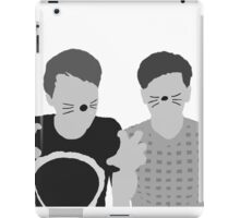 Dan & Phil   Poster in grey iPad Case/Skin