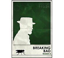 Breaking Bad season 1 minimalist poster Photographic Print