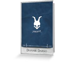 Donnie Darko Minimalist poster Greeting Card