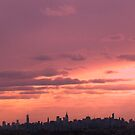 Late afternoon sky over New York City by Alberto  DeJesus