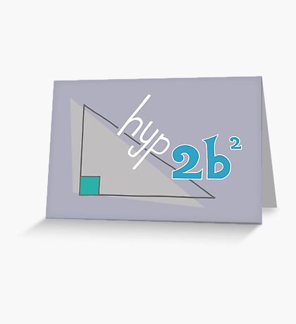 Hyp 2b(squared) - blue Greeting Card