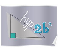 Hyp 2b(squared) - blue Poster
