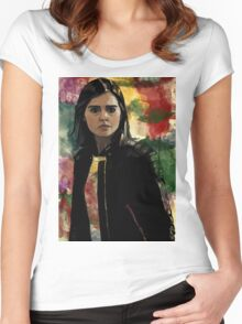 Clara Oswald The Impossible Girl Women's Fitted Scoop T-Shirt