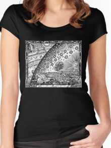 Flammarion - Psychedelic renaissance woodcut Women's Fitted Scoop T-Shirt