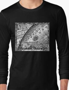 Flammarion - Psychedelic renaissance woodcut Long Sleeve T-Shirt