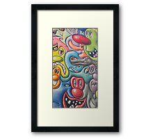 Kenny Scharf Mural - Weho Libary Framed Print