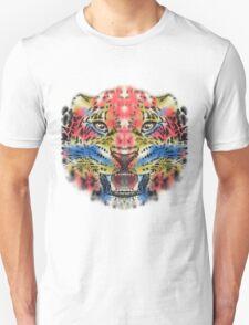 Multi Color Leopard Graphic Design T-Shirt