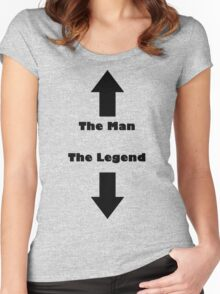 The Man, The Legend Women's Fitted Scoop T-Shirt