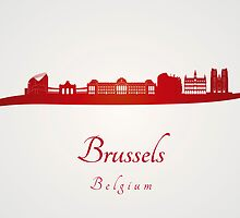 Brussels skyline in red  by paulrommer