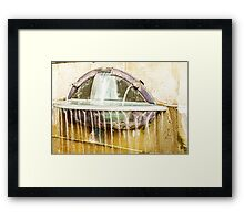 streaming wall fountain Framed Print