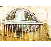 streaming wall fountain Photographic Print