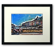 Italian Beach Front Property Framed Print