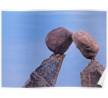 Kissing river sculptures Poster