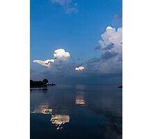 Cool Pearly Clouds Over the Lake Photographic Print