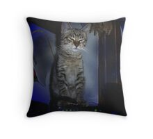 stay warm..... Throw Pillow