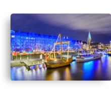 Christmas market illumination in Bremen Canvas Print